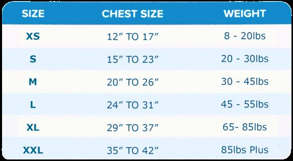 Zendog-Calming-Compression-Shirt-Size-Chart