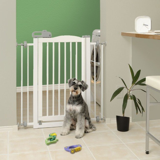 94160-Richell-One-Touch-Gate-White-Dog