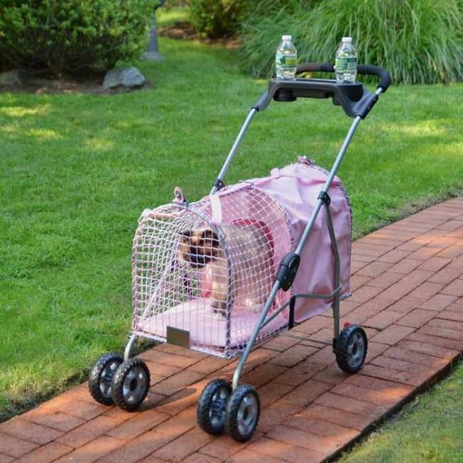 Kittywalk 5th Ave Pet Stroller - Pink